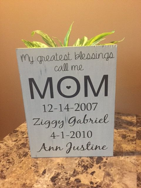 My greatest blessings call me MOM Mom Sign by TheCraftShackbyDanyJ