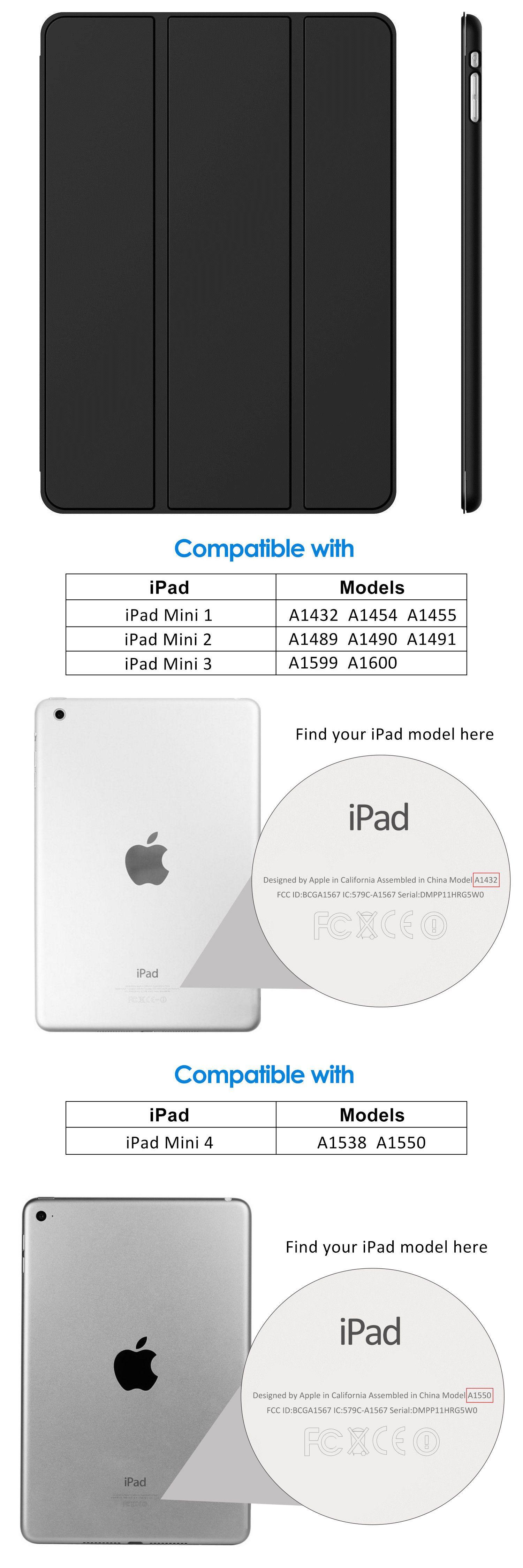 Jetech Case For Apple Ipad Mini 1 2 3 4 Smart Cover With Auto Sleep Wake Apple Ipad Mini Ipad Mini Ipad Models