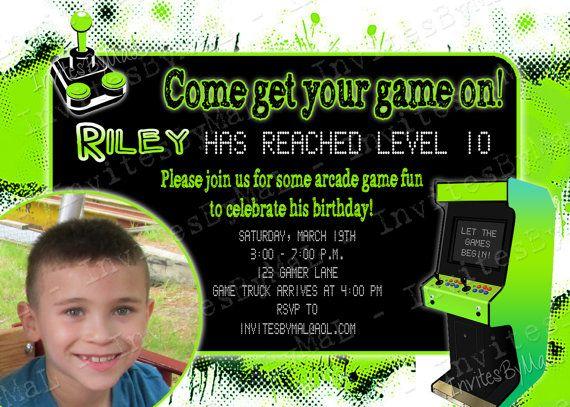 Arcade Video Game Party Birthday Party Invitation By Invitesbymal
