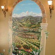 Grand Entrance Archway with Tuscan Landscape - Muriel painting company website, some amazing pieces on here!