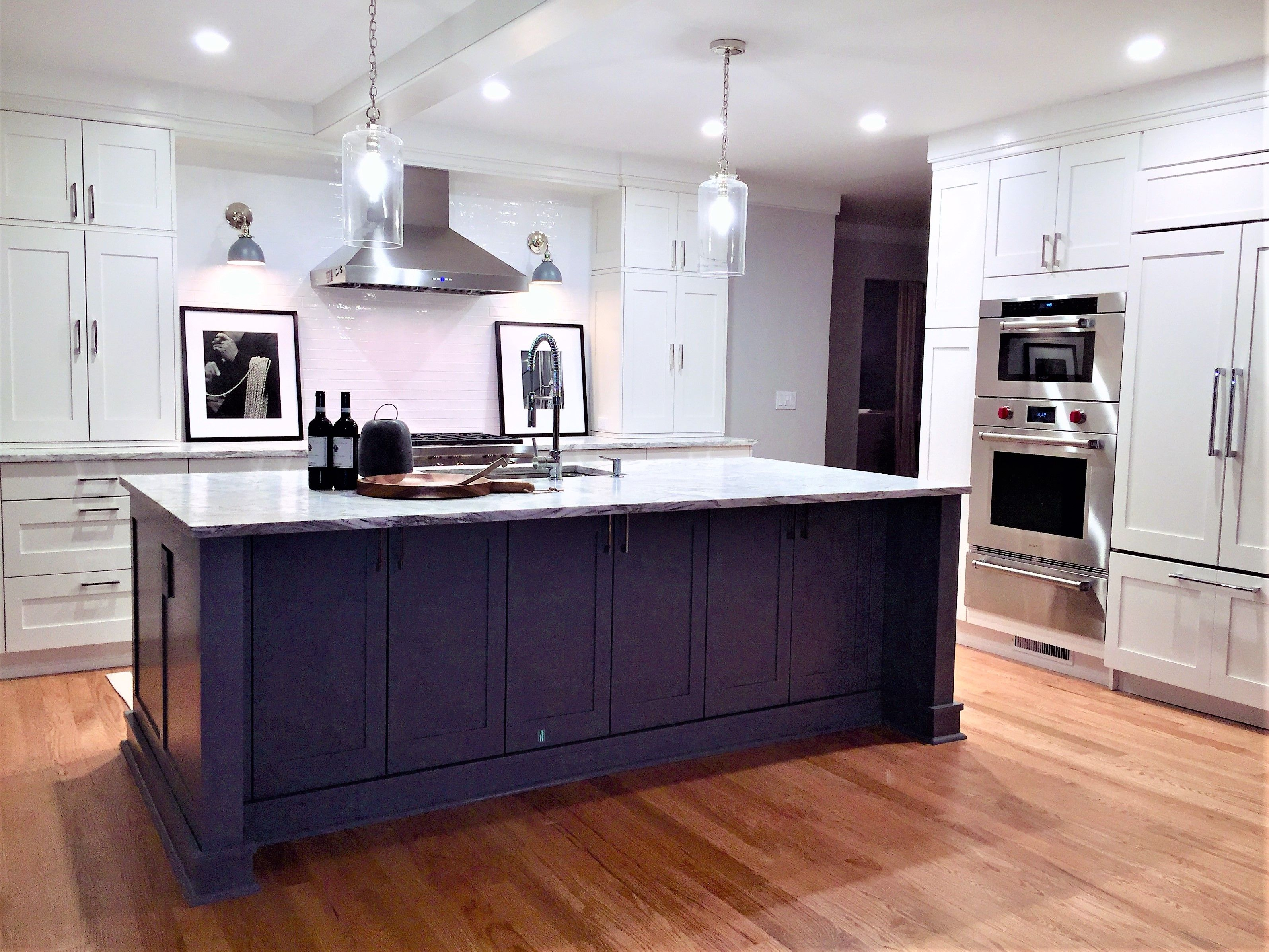 this kitchen island is a star for entertaining an open