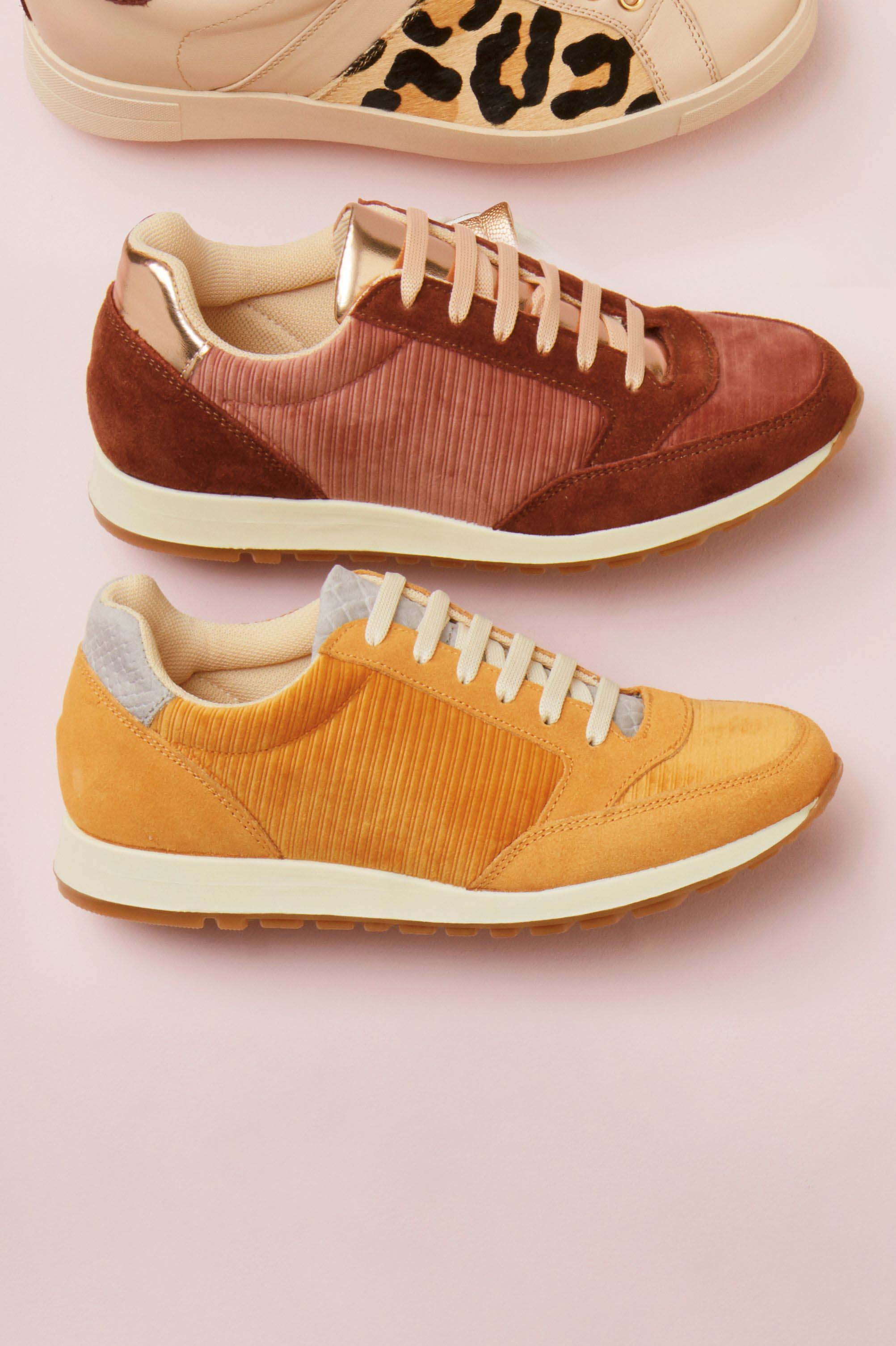 Womens Next Ochre Signature Retro Runners Yellow | Mens