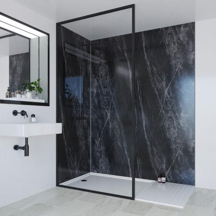 Ferro Grafite Linda Barker Collection Multi Panel Bathroom Interior Design Bathroom Trends Modern Bathroom