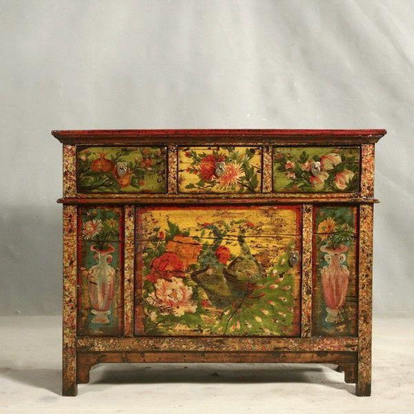 C moda antigua tibetana estilo asi tico pinterest for Muebles de importacion