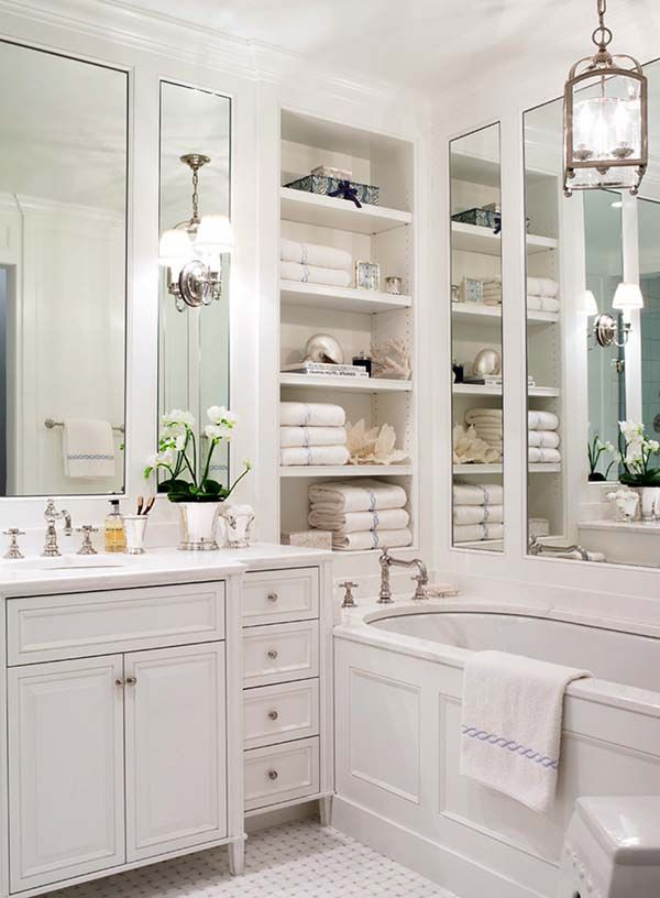 44 Stunningly White Bathroom Design Inspirations