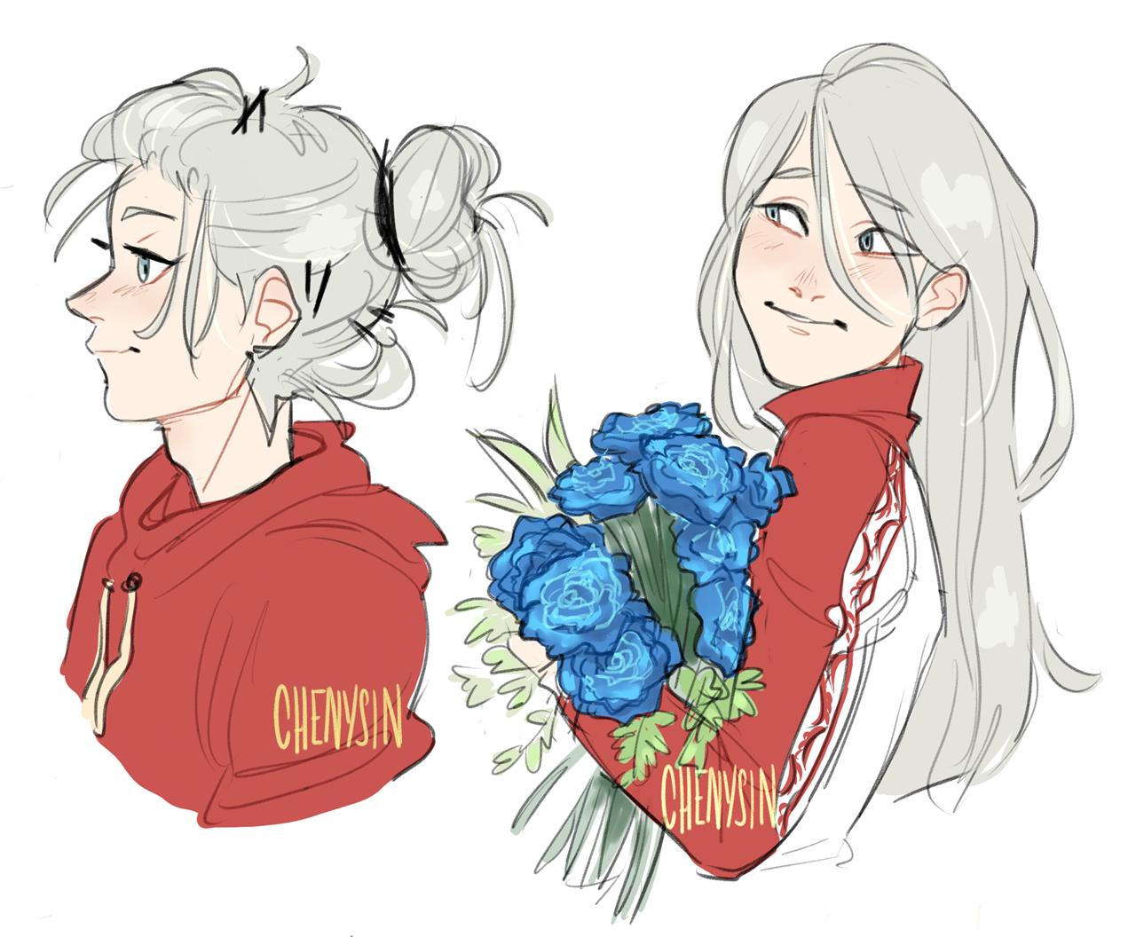Gosh I Love His Fricking Hair Character Art Yuri On Ice Cute Art