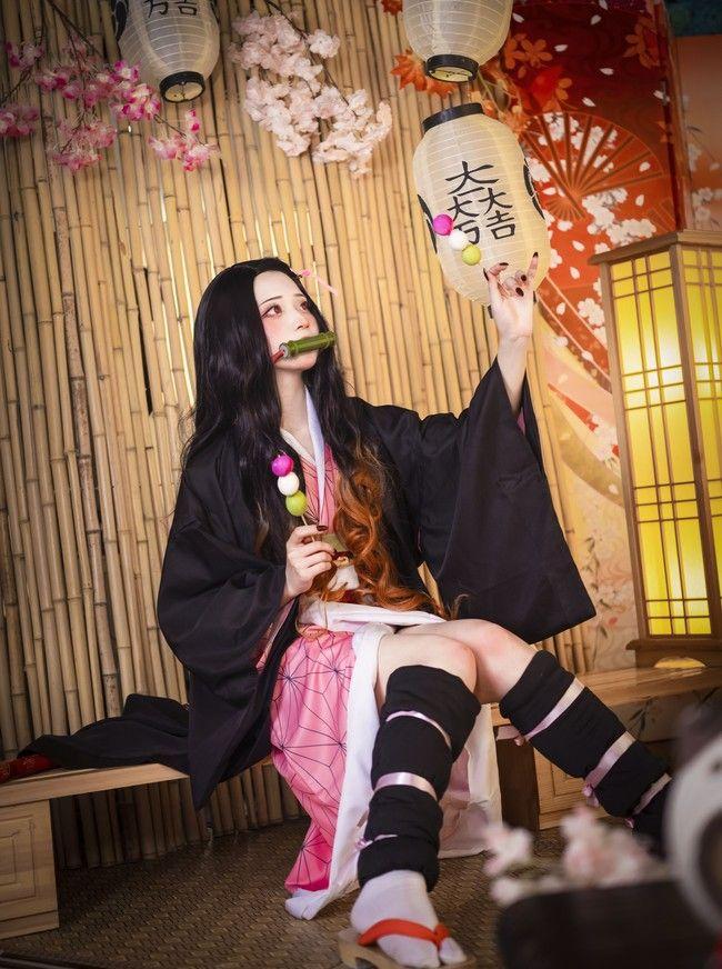 Photo of Nezuko Demon Slayer Kimetsu no Yaiba Cosplay Costume