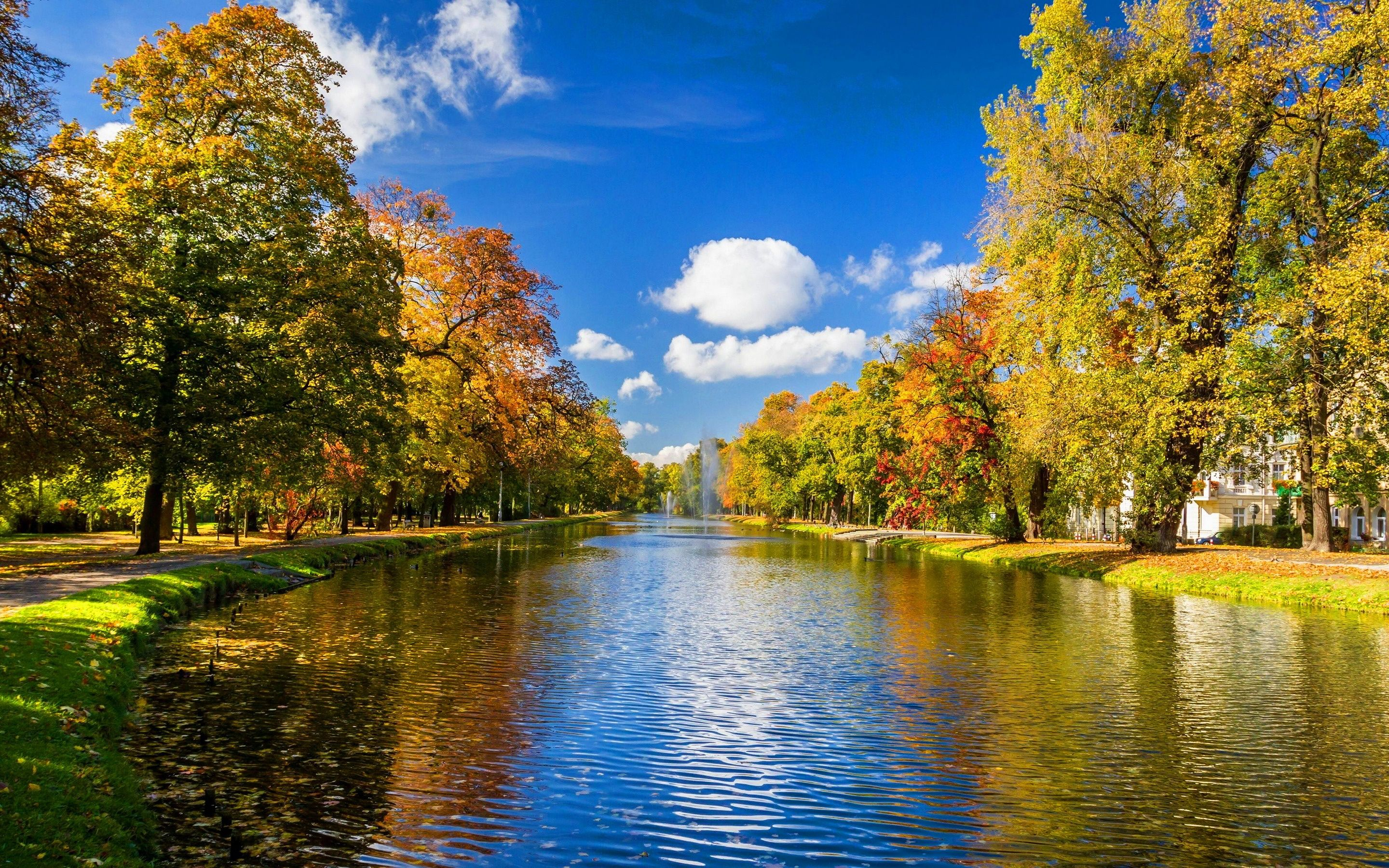 Full Hd River Wallpapers Scenery River Autumn Trees