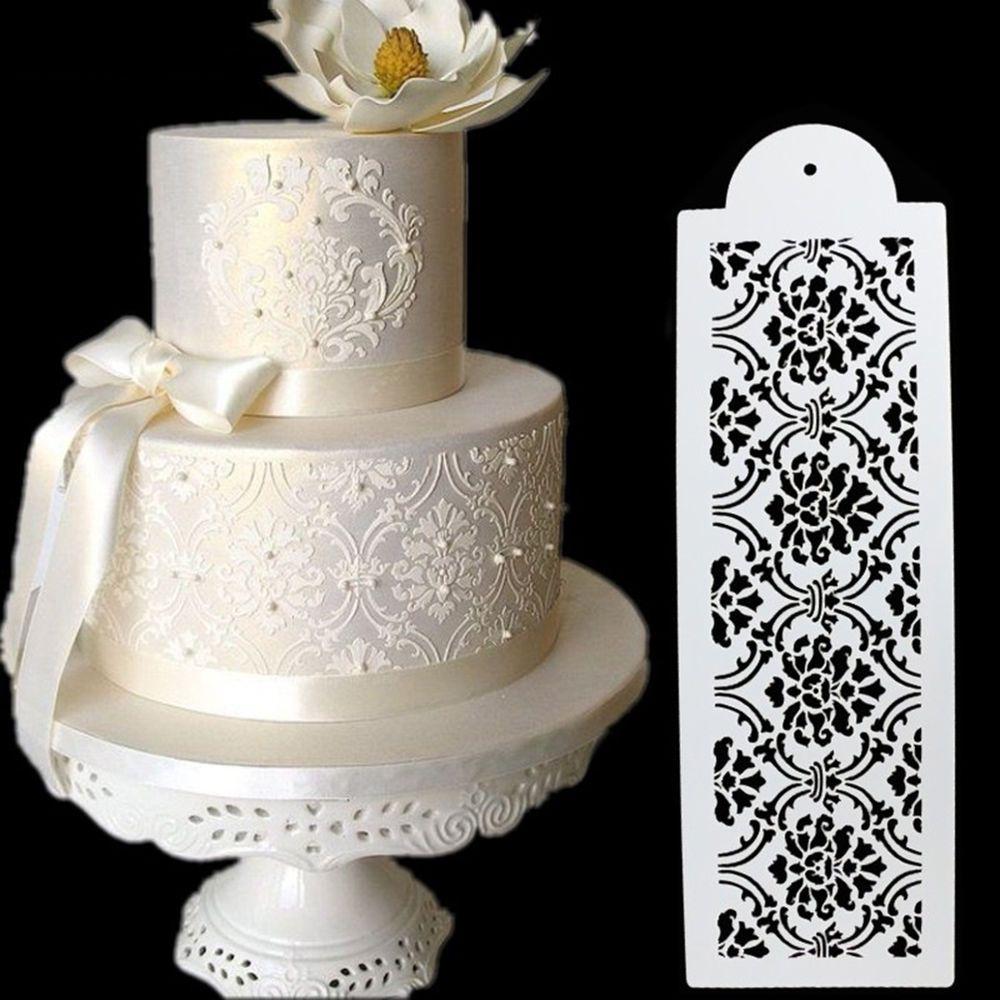 Plastic Cookie Cake Stencil Fondant Tool Decoration for Cake Wedding ...