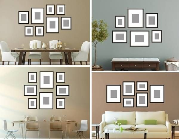 как развесить фото на стене красиво: 5 тыс изображений ...
