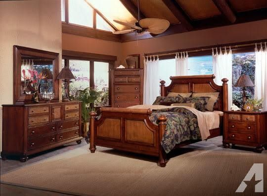Queen ISLAND HOUSE Bedroom SET Caribbean Style NEW - $1649 ...