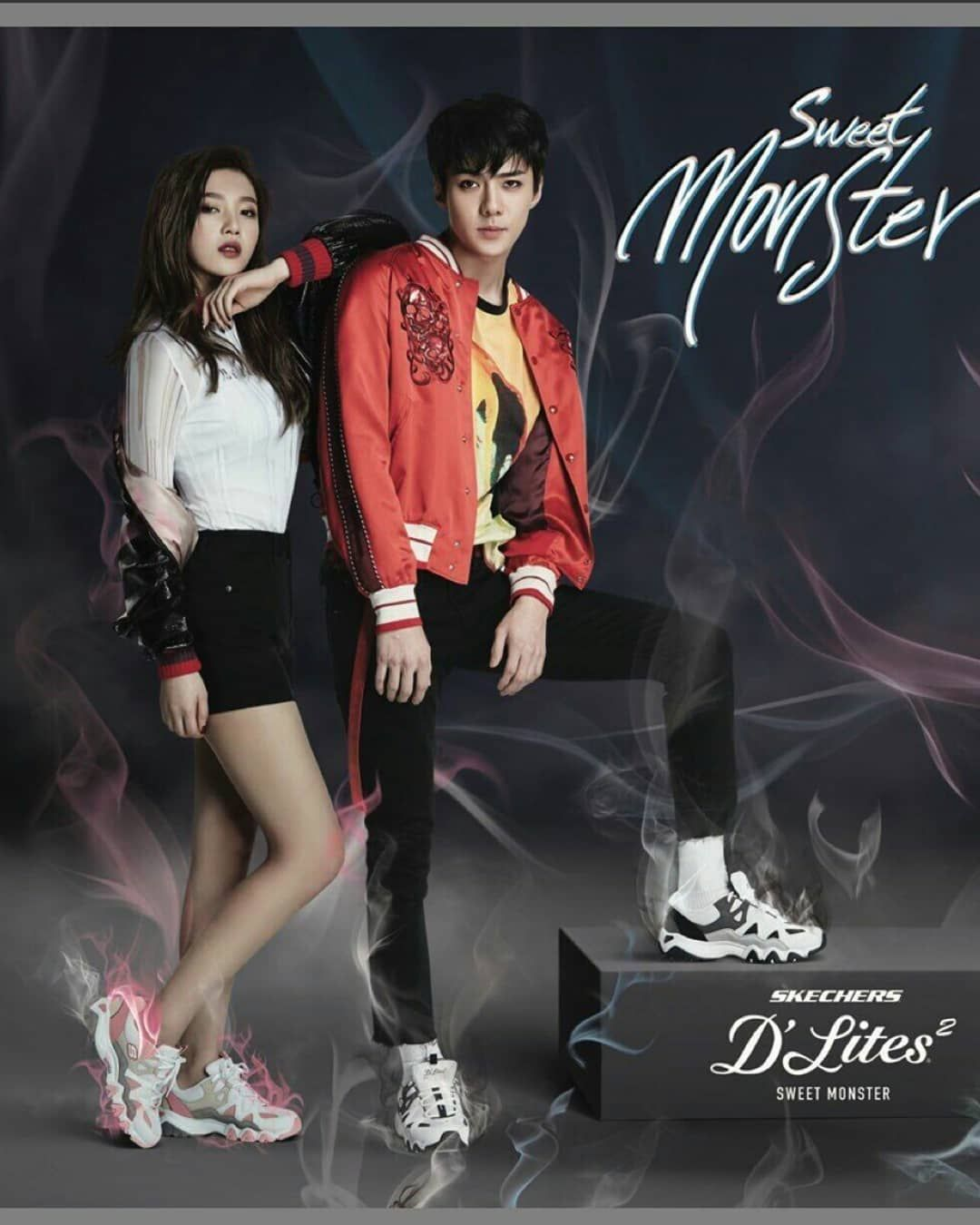 EXO with Red Velvet Skechers D'Lite 2 Sweet Monster