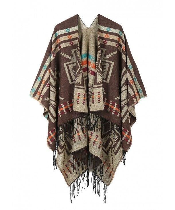 Fashion Women Ladies Warm Cape Poncho Pullover Shawl With Suede Tassel