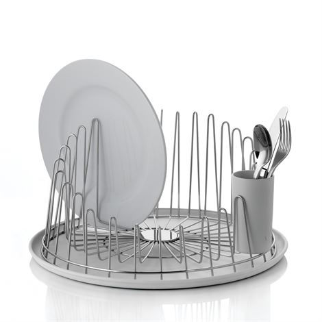 A Tempo dish rack stainless steel from Alessi - NordicNest.com #plateracks