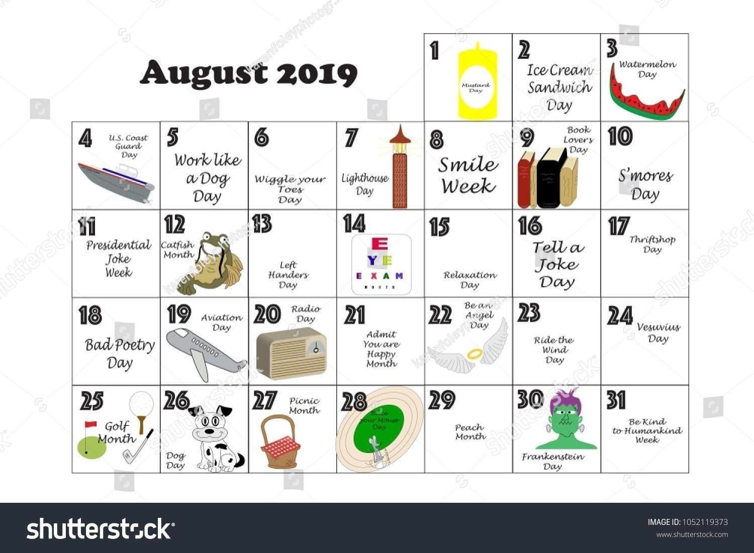 Pick 2019 August Fun Calendar Days Fun Calendar Days National