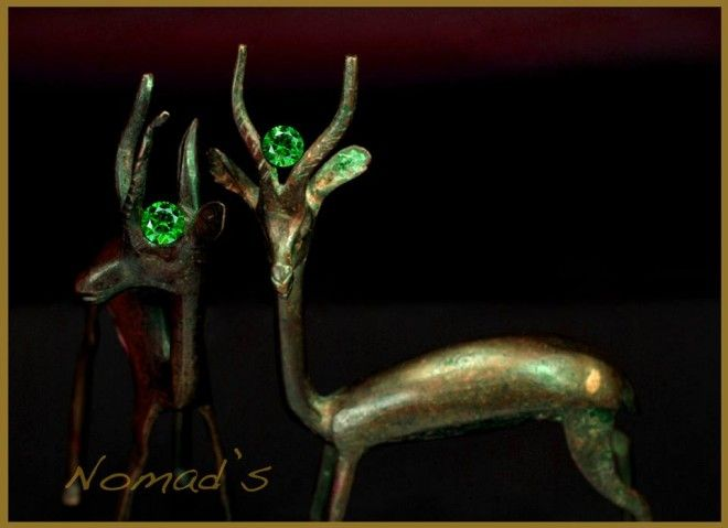 Exquisite Demantoid Garnets from Russia. One and a half carat each. A true rarity nowadays. Great color and sharply brilliant luster. A collector's dream.