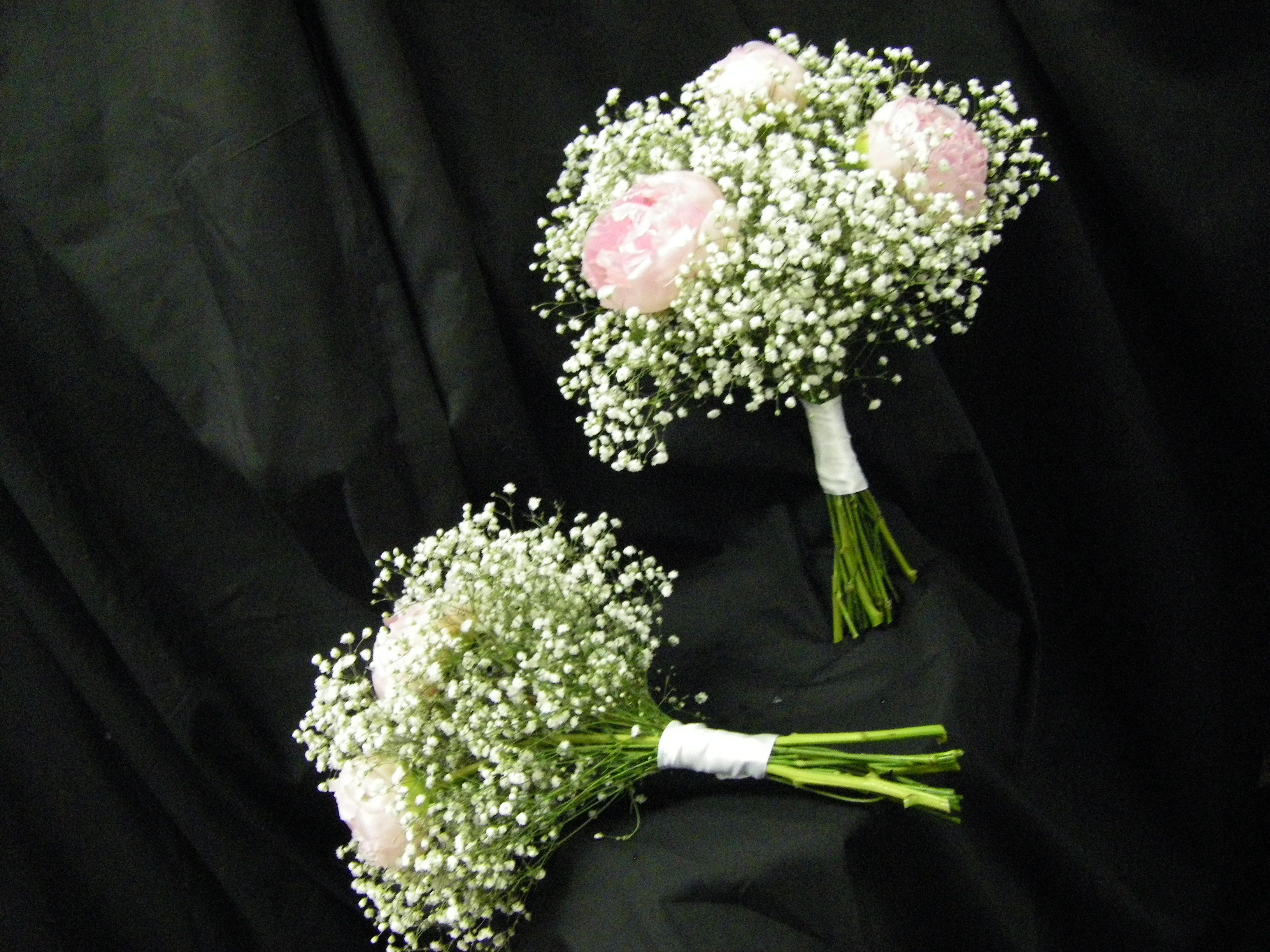 Baby S Breath And Light Pink Peonies Flower Delivery Order Flowers Online Pink Peonies