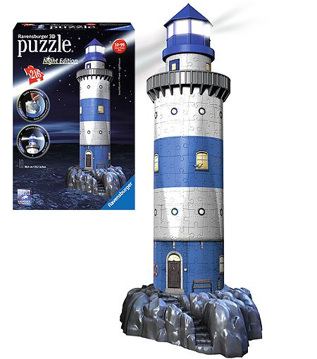 Ravensburger 3D Puzzle Night Edition Leuchturm Puzzles & Geduldspiele