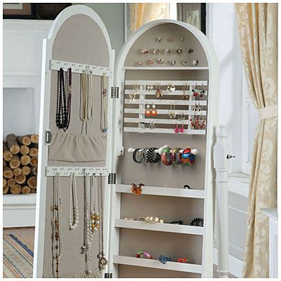 White Cheval Mirror Jewelry Armoire At Big Lots One Of The Things