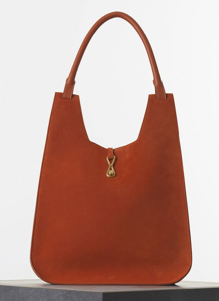 07169e1499e7 Céline Hobo Hook Bag in Suede
