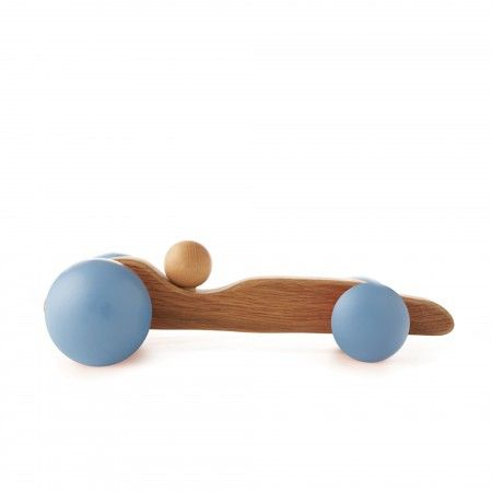 Wooden British Racing Car Toy - Blue | Howkapow