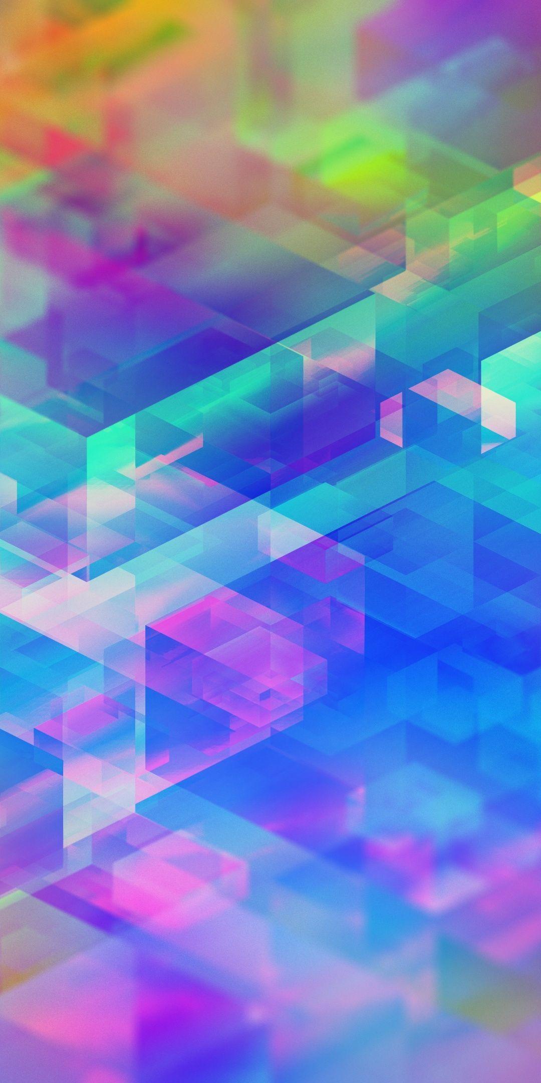 Colorful Rainbow Geometric Pattern 1080x2160 Wallpaper Wallpaper Iphone Neon Iphone Wallpaper Blur Rainbow Wallpaper