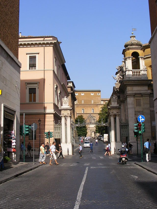 An Entrance To Vatican City From Italy : Vatican City