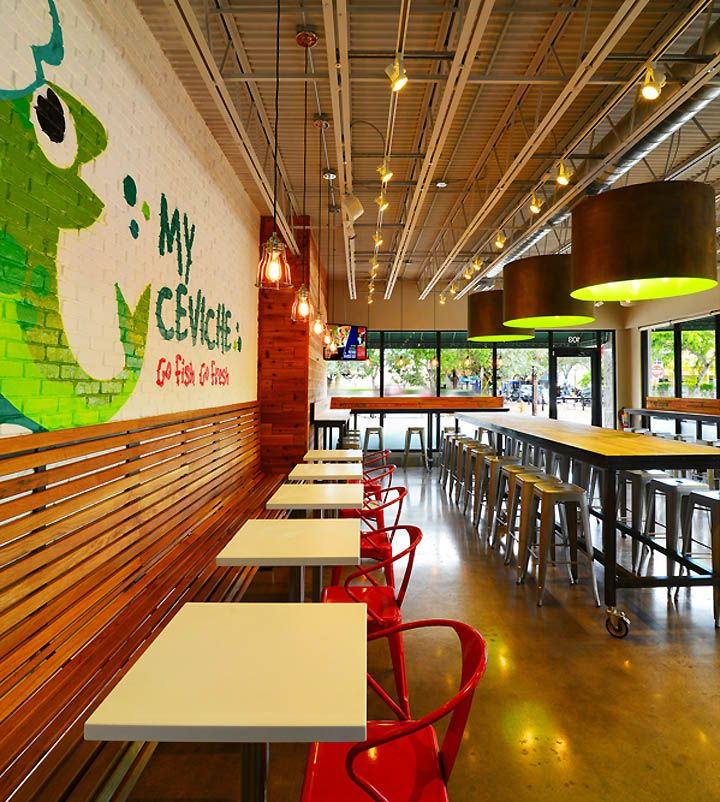 My Ceviche Fast Food By ID Design International Miami Florida Retail Taco RestaurantRestaurant InteriorsRestaurant
