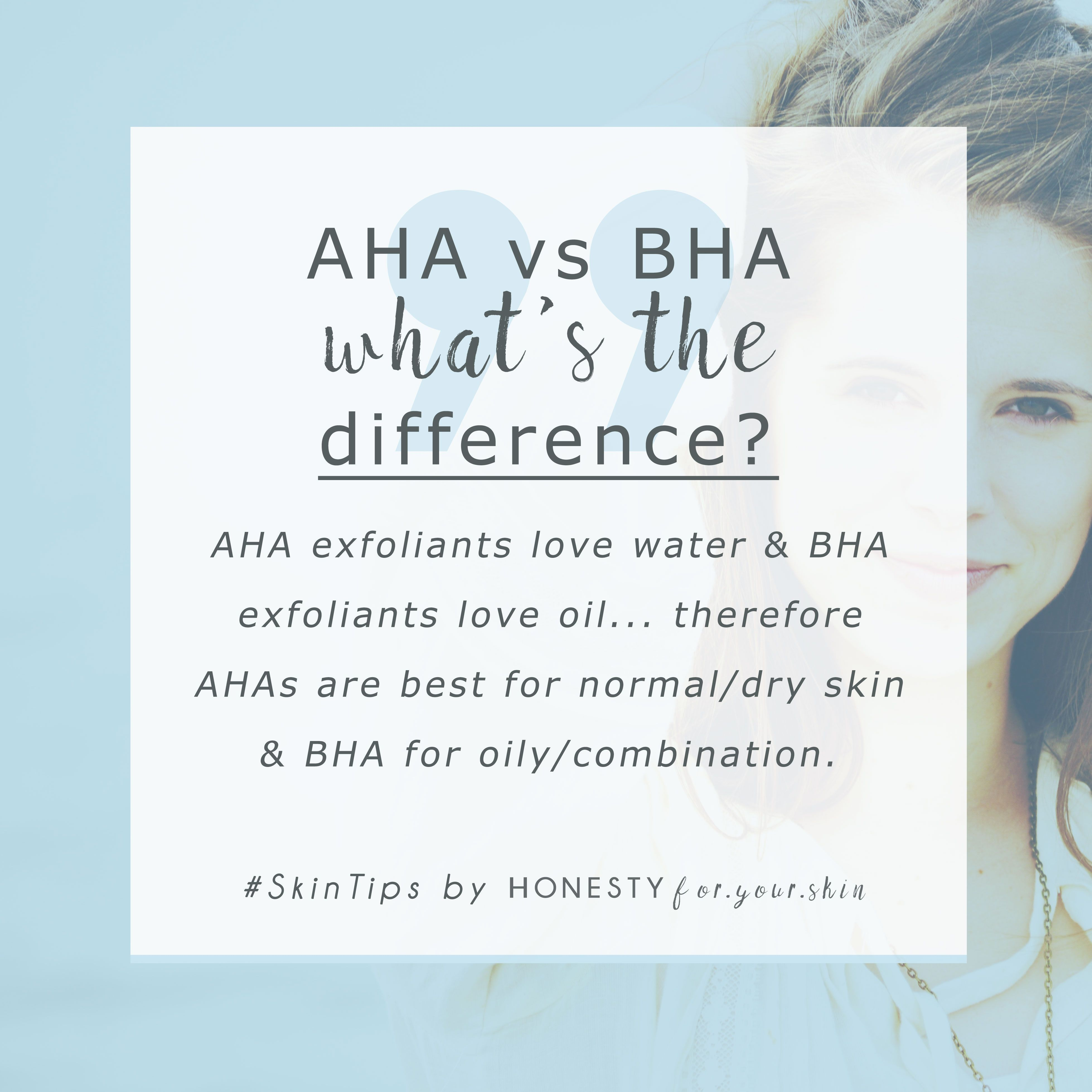 Aha Vs Bha Not Sure About The Difference Both Can Exfoliate Your Skin But Only 1 Is Perfect For Your Skin Type It S Eas Skin Tips How To Grow Eyebrows Skin