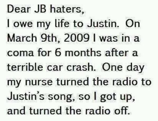 To Bieber Haters!