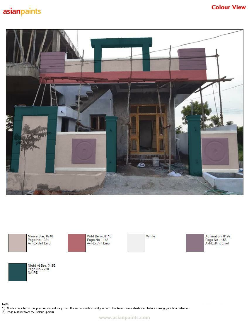 Pin By Raghavendra Raghu On Exterior Colour Combinations Cell 9908801602 Exterior Color Combinations House Elevation Exterior Colors