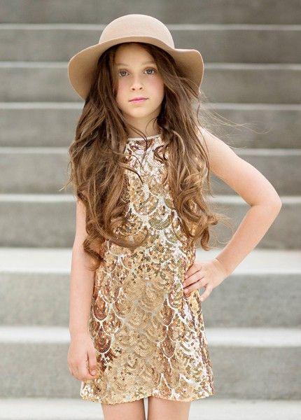 *NEW* Clara Dress in Gold - Ma Petite