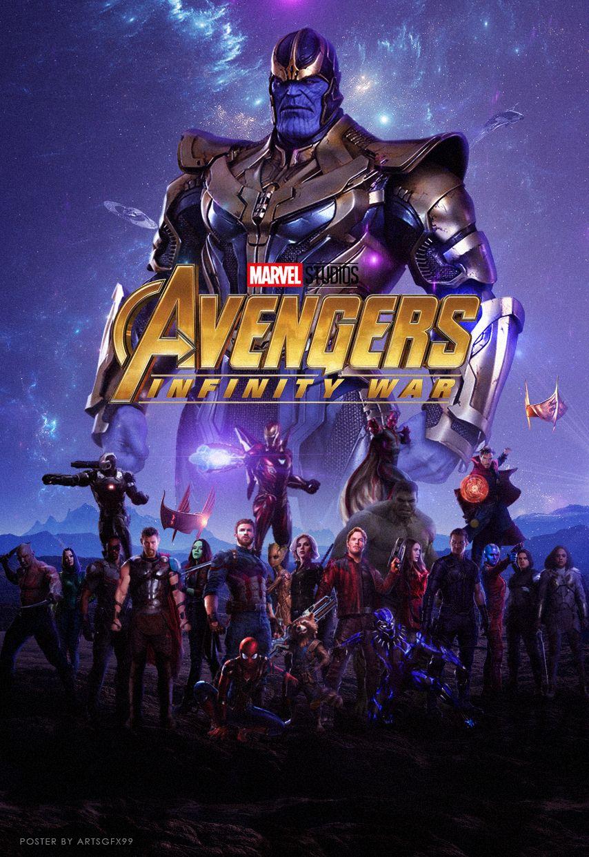 Avengers Infinity War 2018 Poster Cartazes De Filmes 1080p