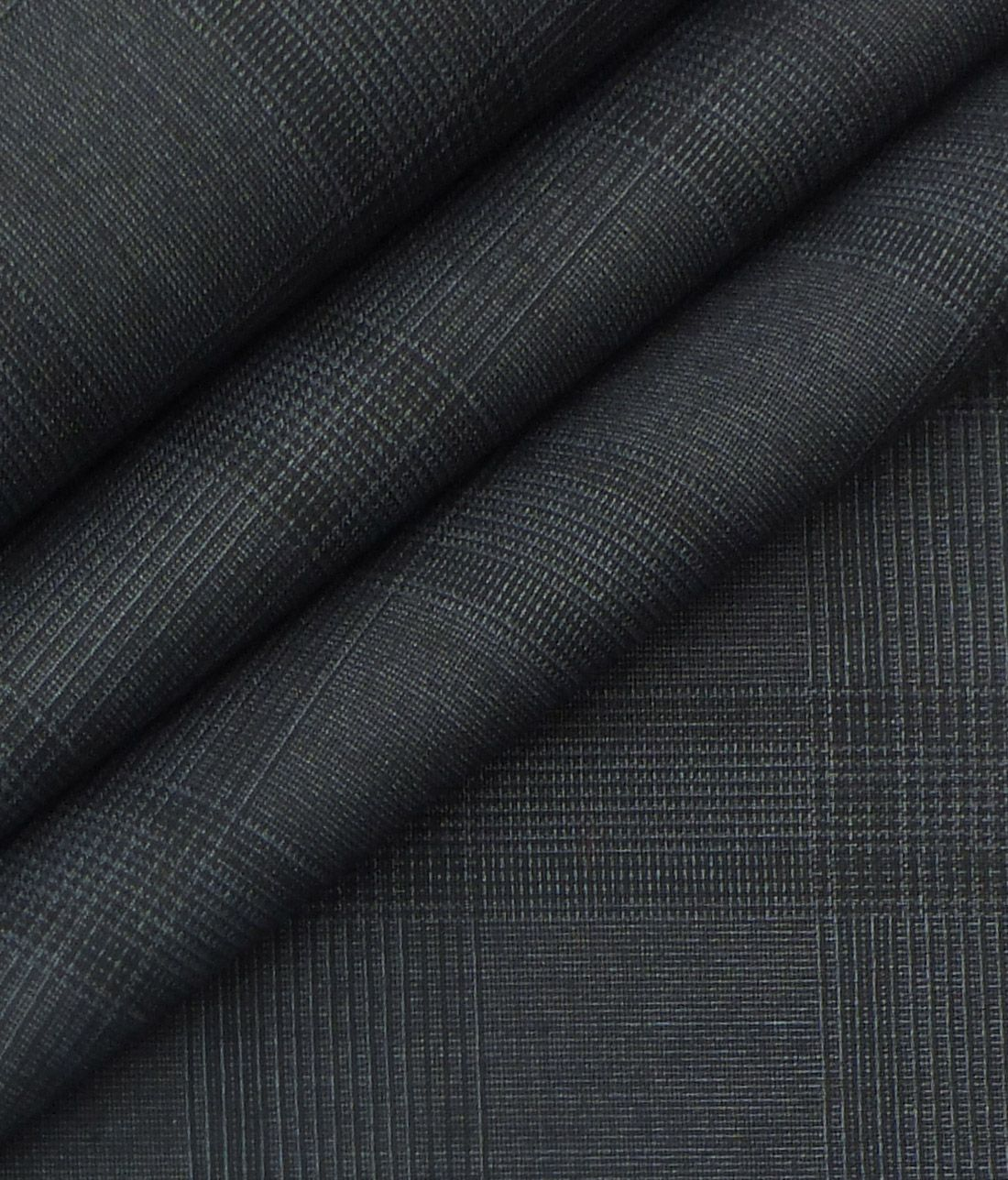 13f95ca7 Italian Channel Dark Grey Self Checks Terry Rayon Premium Three Piece Suit  Fabric (Unstitched - 3.75 Mtr)|The Libas Store
