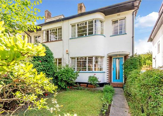 on the market 1930s semi detached art deco style property in