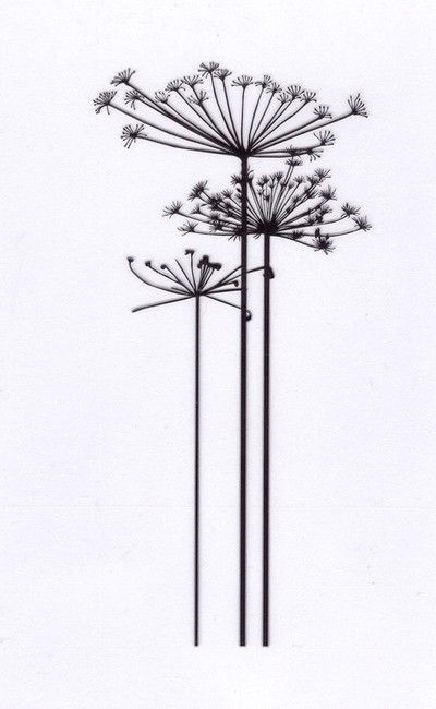 Queen Annes Lace Flower Clear Stamp Tattoos I Love Want