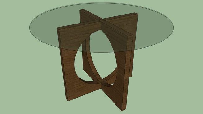 Large preview of 3D Model of Mesa Redonda Tampo de Vidro (2)