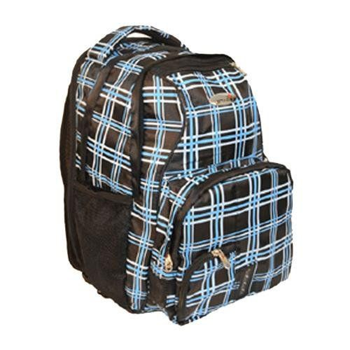 iSafe Child School BackPack, Blue Plaid, One Size. Foam back provides extra padding for greater comfort and maximum back support. Shoulder strap reflectors provide night time visibility for additional safety. Large front compartment designed to compartmentalize items. Adjustable chest strap designed to prevent the backpack from easily being taken from the user. S-shaped shoulder straps are ergonomically designed for comfort.