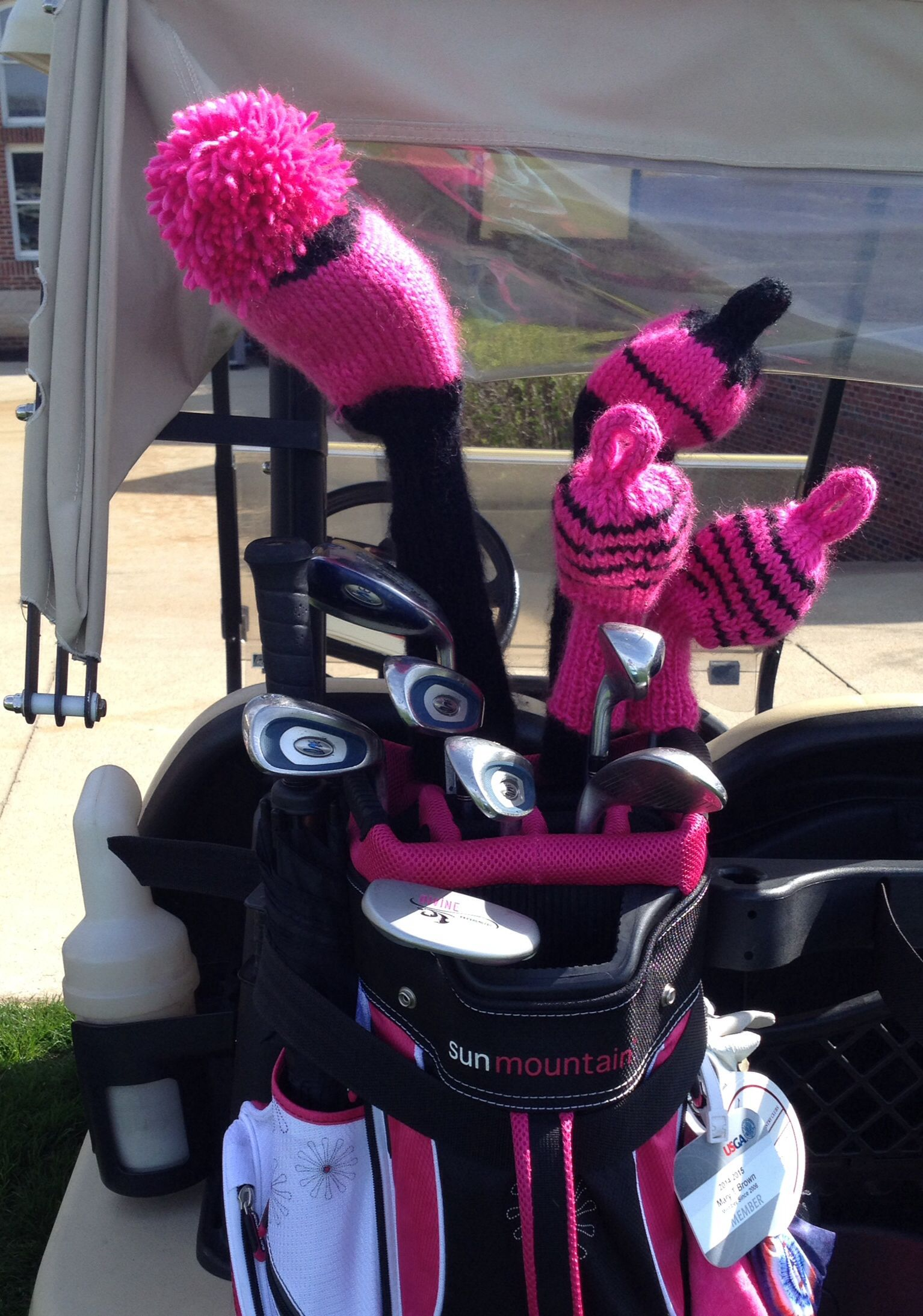 Loving my new golf club head covers! Used Purl Bee\'s pattern and ...