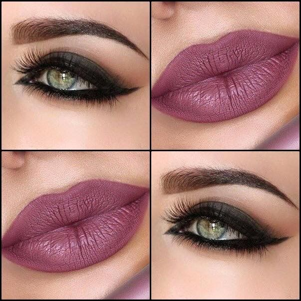 Bold eye with pink lip