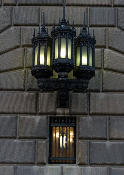 Gothic Lamp On The Department Of Commerce Building, Washington, DC.