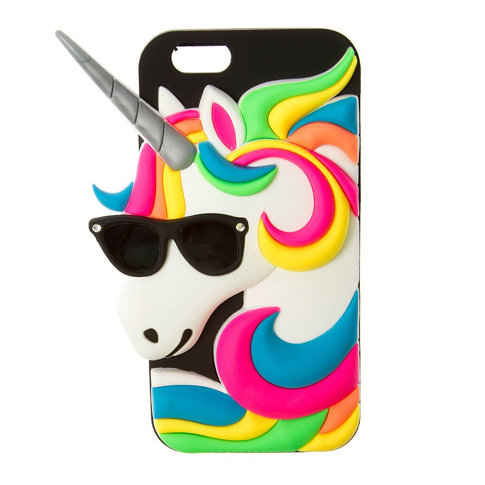 3D Silicone Unicorn with Sunglasses Cover for iPhone 6   Unicorn ...