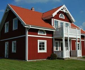 Das Schwedenhaus Holzhaus in skandinavischem Stil