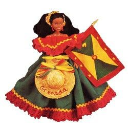 Grenada Flag doll in Caribbean Connection | Caribbean Dolls
