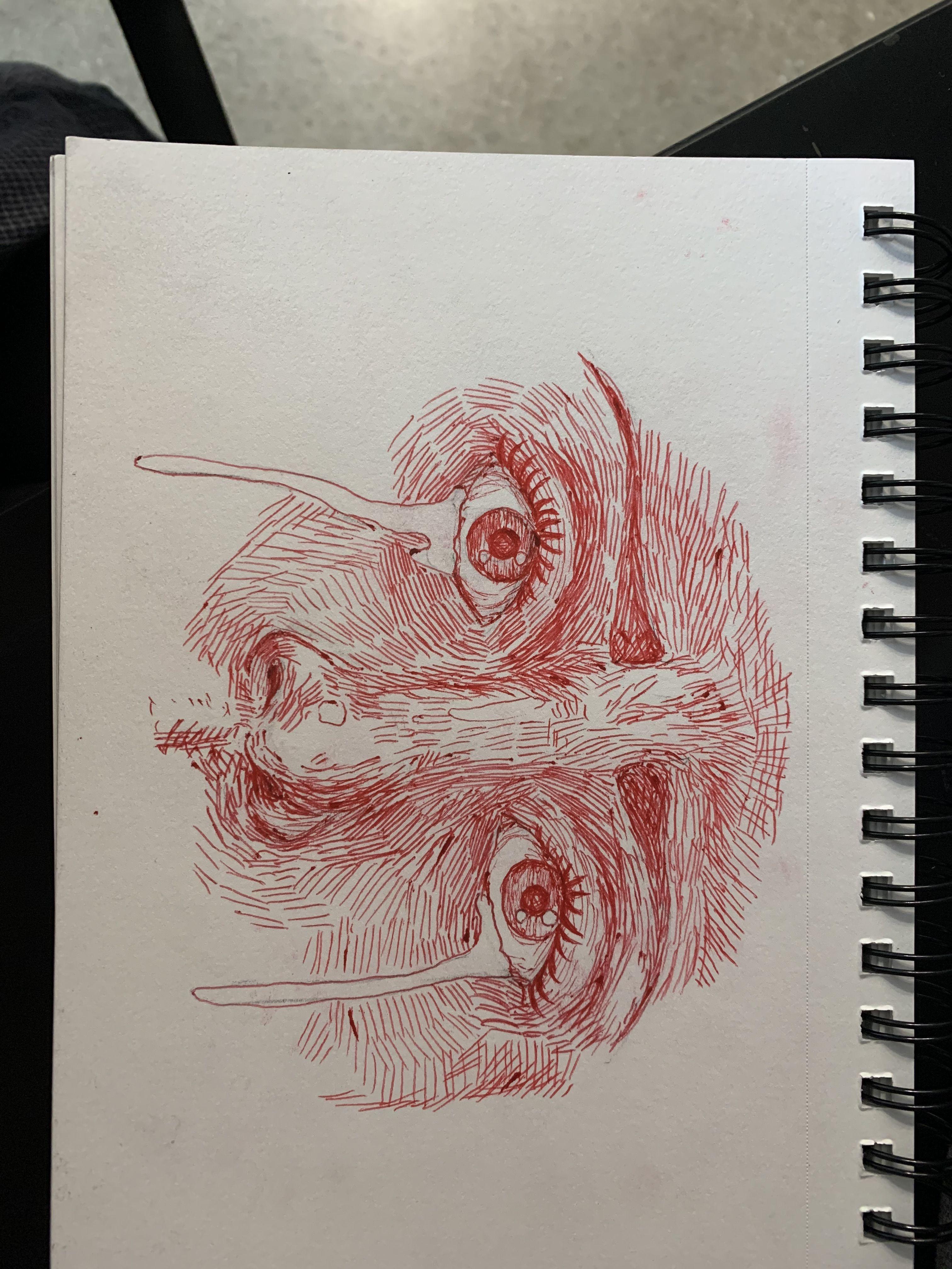 Red Eyes Sketch Realisticeye Arte Sketchbook Desenhos De