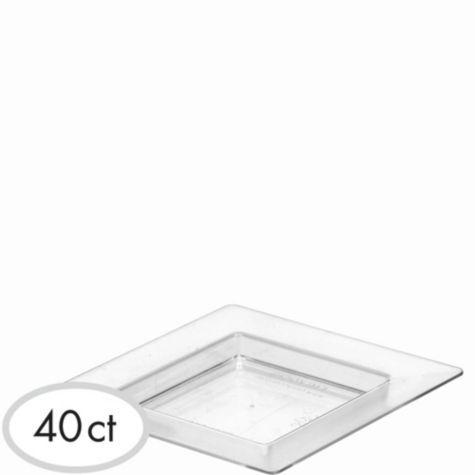 Mini CLEAR Plastic Square Appetizer Plates 40ct - Party City 9.99 tiny 3x3  sc 1 st  Pinterest & Mini CLEAR Plastic Square Appetizer Plates 40ct - Party City 9.99 ...