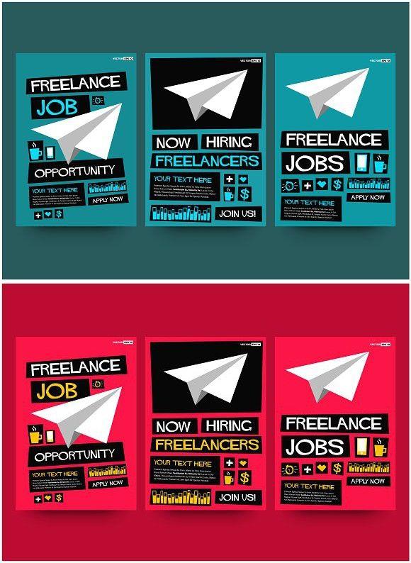 Freelance Job Hiring Poster Template Hiring Poster Flyer Template