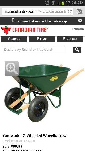 Wheelbarrow from canadian tire | Wish List | Garden tools