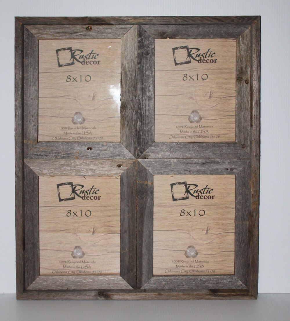 Rustic Barn Wood Window Frame (Holds 4-8x10 Pictures) by ...