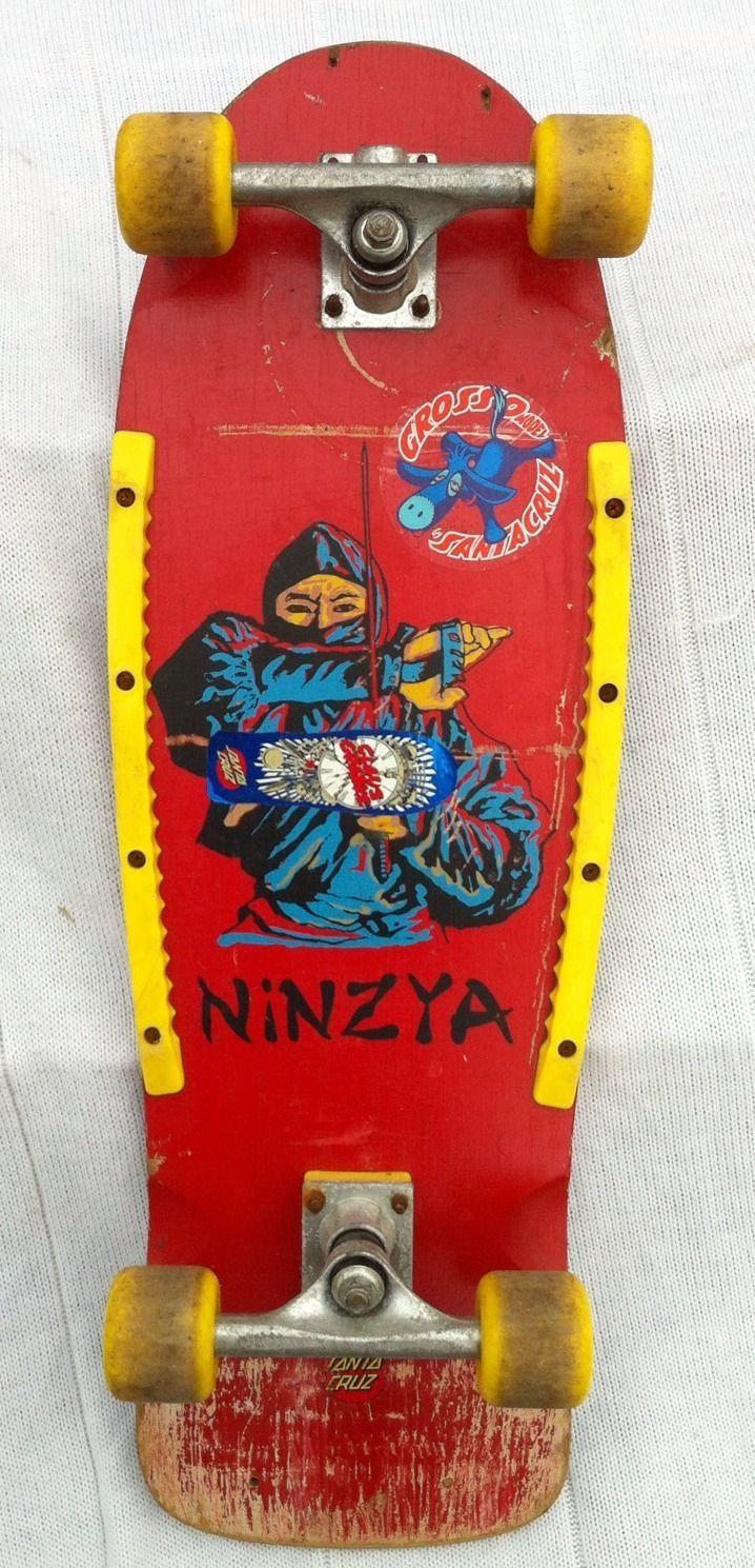 97f8173b8575 Vintage Ninja Ninzya 80s Skateboard Santa Cruz Style Gnar Gnar ...